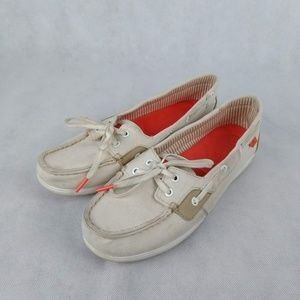 Sperry Top Sider Shore Sider Ivory Boat Shoes 8.5